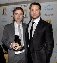 Casey Affleck and Brad Pitt at the 11th Annual Hollywood Awards.