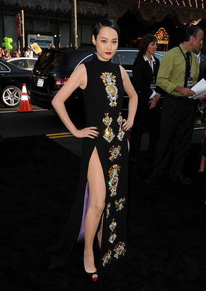 "Rinko Kikuchi at the Hollywood premiere of ""Pacific Rim."""