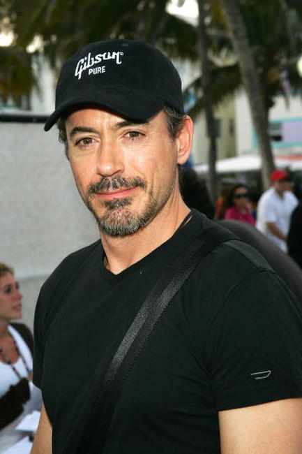 Robert Downey, Jr. outside the Sprint Style Villa in Miami Beach, Florida.