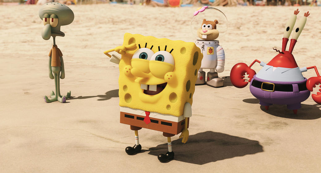 Spongebob Sandy Sponge Out of Water Movie