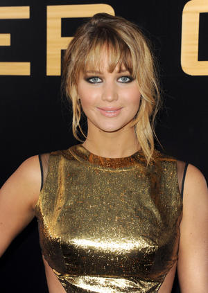 "Jennifer Lawrence at the California premiere of ""The Hunger Games."""