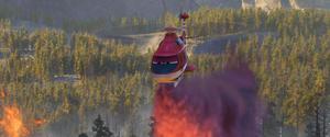 "A scene from ""Planes: Fire & Rescue."""