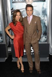Susan Downey and Robert Downey, Jr. at the New York premiere of