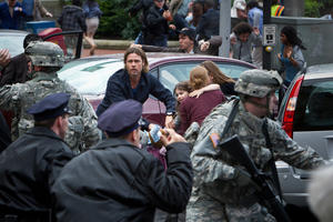 "Brad Pitt in ""World War Z."""