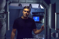 Chris Kelvin (George Clooney) investigates the mysteries aboard a space station orbiting a mysterious planet.