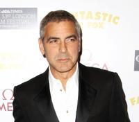 George Clooney at the after party of the London premiere of
