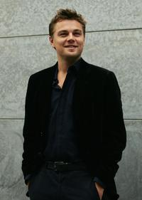 Leonardo DiCaprio at the Giorgio Armani show during the Spring/Summer 2007 women's collections.