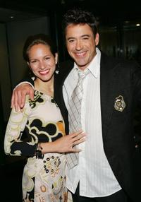 Robert Downey, Jr. and wife Susan Levin at the New York screening of