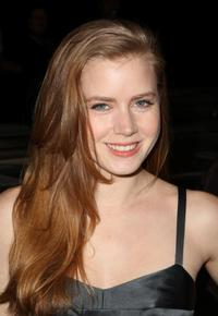 Amy Adams at the Narciso Rodriquez Fall 2008 fashion show during the Mercedes-Benz Fashion Week Fall 2008.