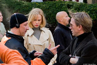 Director Oliver Hirschbiegel, Nicole Kidman and Daniel Craig on the set of