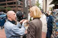 Director Oliver Hirschbiegel and Nicole Kidman on the set of