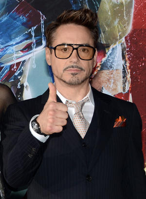 "Robert Downey, Jr. at the California premiere of ""Iron Man 3."""
