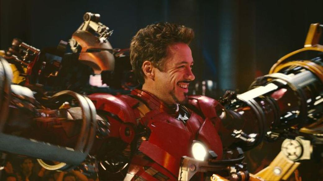 Robert Downey Jr. as billionaire industrialist Tony Stark in