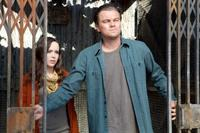 Ellen Page as Ariadne and Leonardo Dicaprio as Cobb in