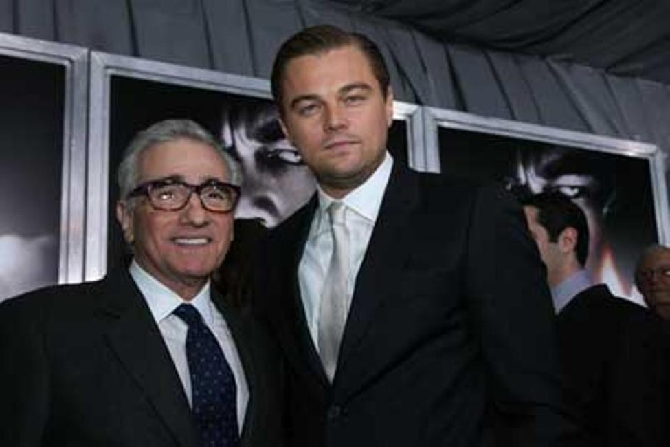 Martin Scorsese and Leonardo DiCaprio at the New York special screening of
