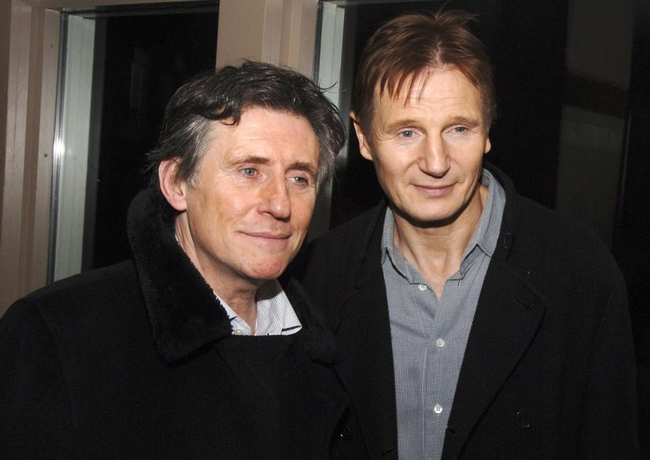Liam Neeson and Gabriel Byrne at the Cinema Society after party for