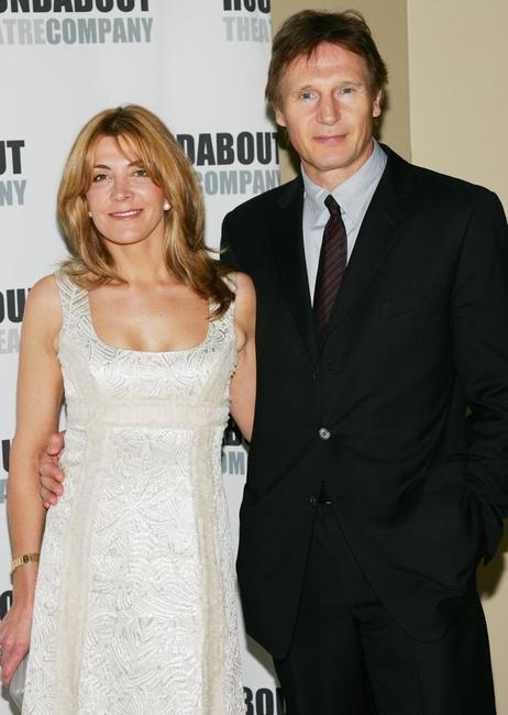 Natasha Richardson and Liam Neeson at the Roundabout Theatre Company's Spring Gala 2006.