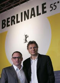 Liam Neeson and Bill Condon at the Golden and Silver Bears of the 55th Berlinale Film Festival.