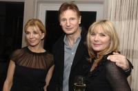 Liam Neeson, Natasha Richardson and Kim Cattrall at the Cinema Society after party for