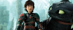 Hiccup and Toothless in How to Train Your Dragon 2
