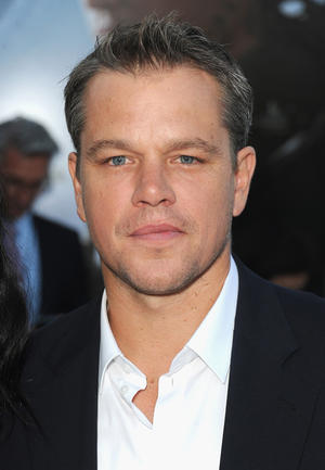 "Matt Damon at the California premiere of ""Elysium."""