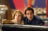 Amy Adams as Amelia Earhart and Ben Stiller as Larry Daley in