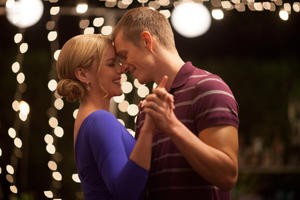 "Abbie Cornish and Joel Kinnaman in ""RoboCop."""