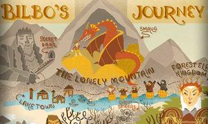 Infographic: Bilbo's Journey