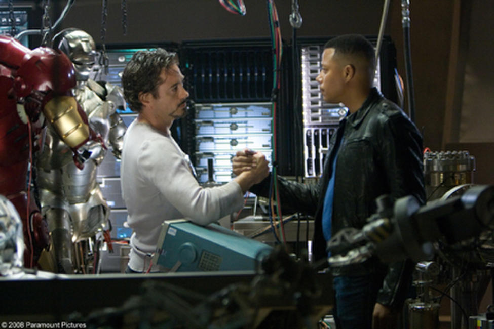Robert Downey Jr. and Terrence Howard in