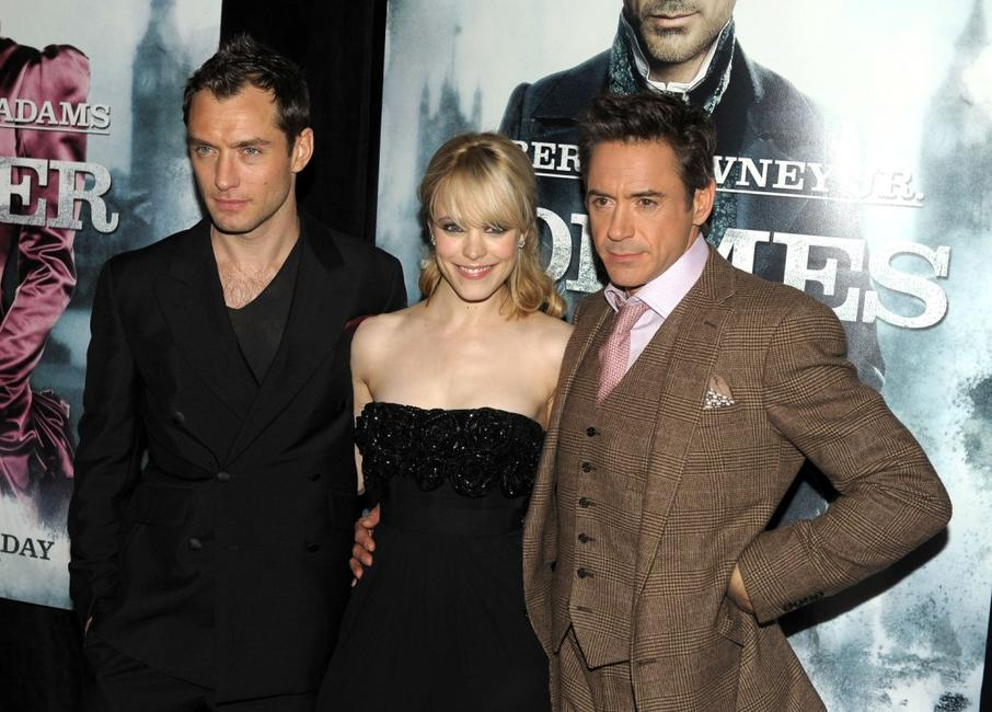 Jude Law, Rachel McAdams and Robert Downey, Jr. at the New York premiere of
