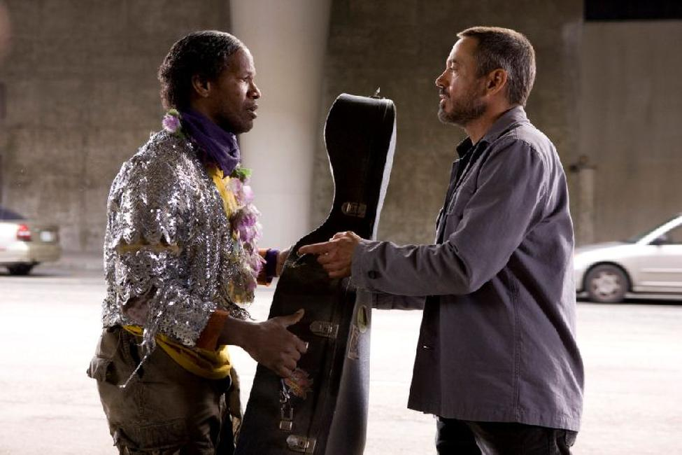 Jamie Foxx as Nathaniel Ayers and Robert Downey Jr. as Steve Lopez in