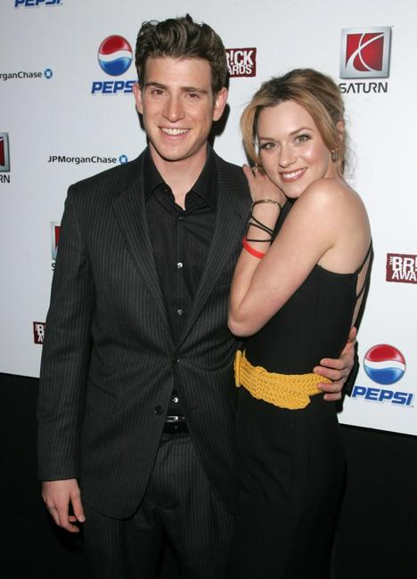 Photo of Bryan Greenberg & his friend  Hilarie Burton