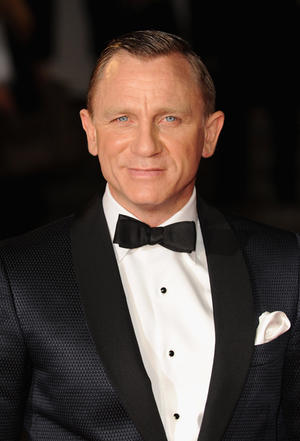 """Daniel Craig at the Royal world premiere of """"Skyfall"""" in London."""