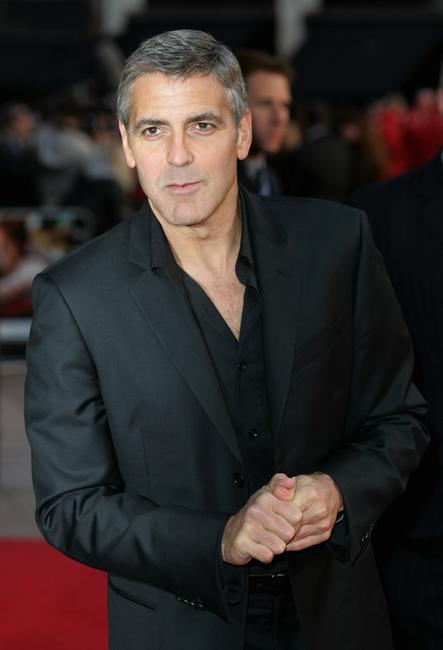 George Clooney at the premiere of
