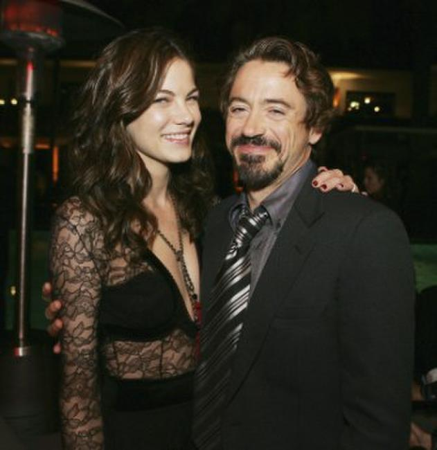 Michelle Monaghan and Robert Downey, Jr. at the Los Angeles premiere of