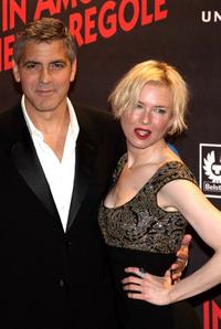 George Clooney and Renee Zellweger at the premiere of