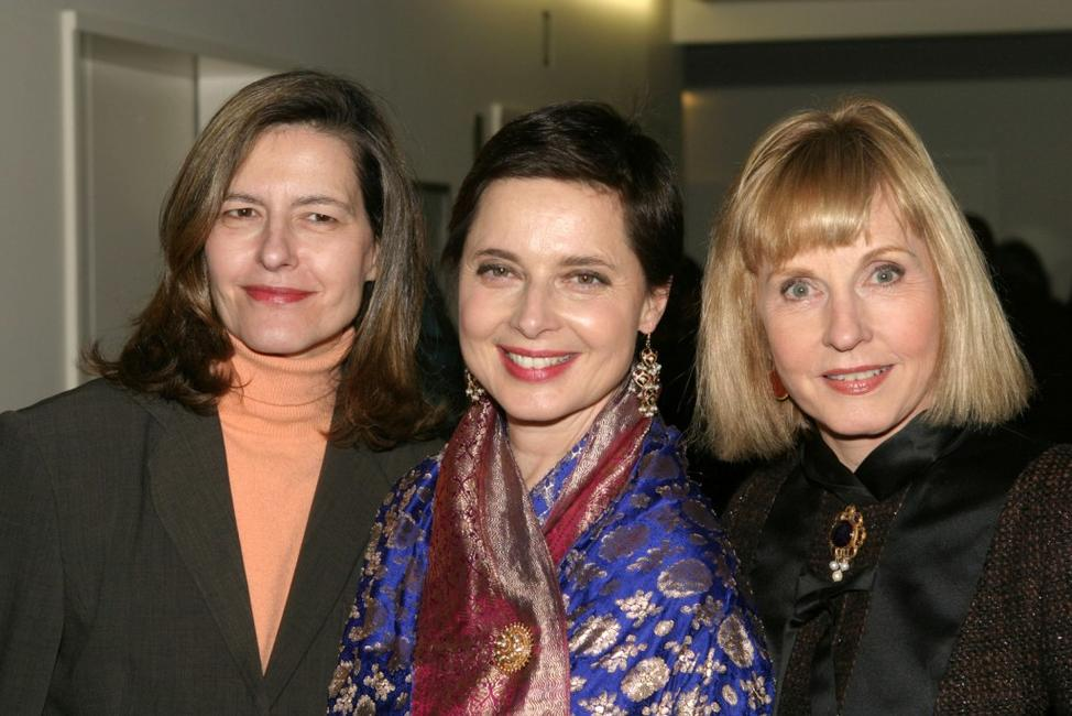 Photo of Isabella Rossellini & her Sister  Pia Lindström