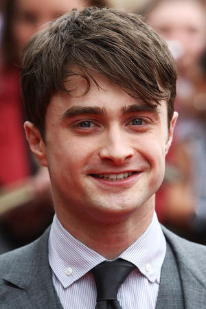 """Daniel Radcliffe at the world premiere of """"Harry Potter and the Deathly Hallows Part 2."""""""