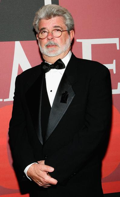 George Lucas at cocktail party for Time Magazine's 100 Most Infuential People issue.
