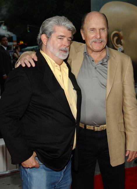 George Lucas and Robert Duvall at the New York photocall of