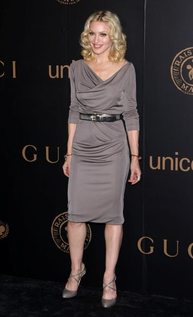 Madonna attend a reception to benefit UNICEF hosted by Gucci during Mercedes-Benz Fashion Week Fall 2008.