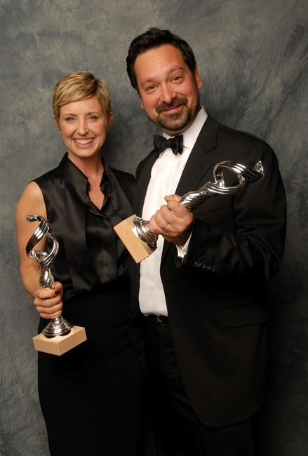 James Mangold and Cathy Konrad at the 10th Annual Costume Designers Guild Awards.