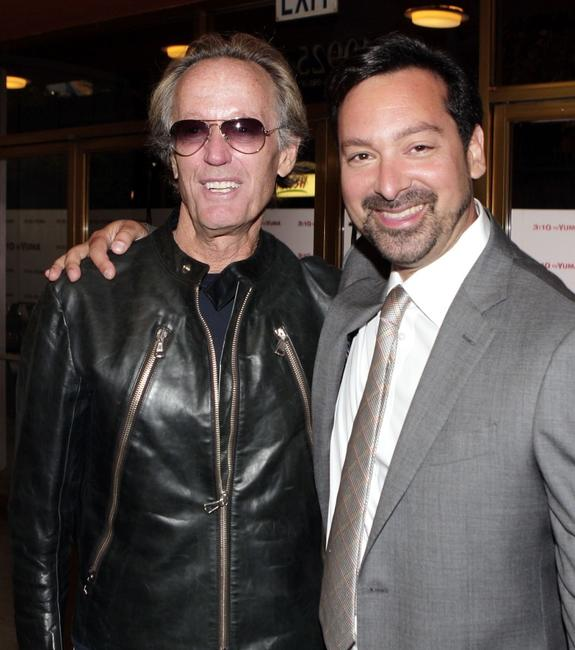 James Mangold and Peter Fonda at the premiere of