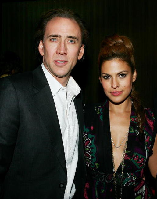 Nicolas Cage and Eva Mendes at the world premiere of