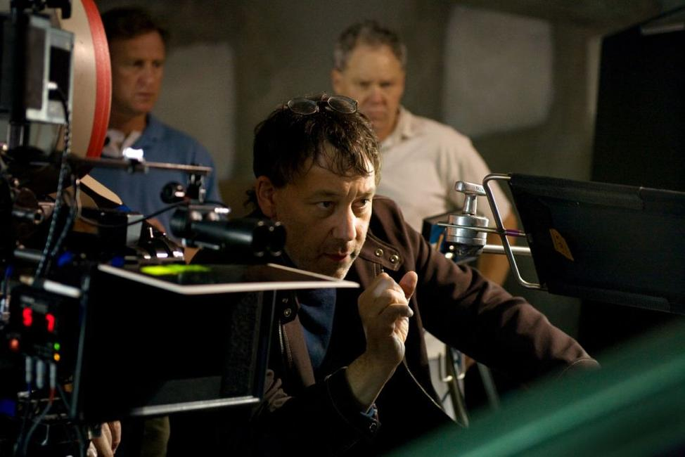 Writer/director Sam Raimi on the set of