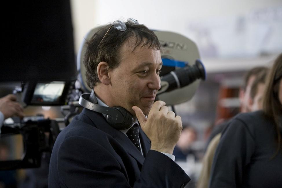 Director Sam Raimi on the set of
