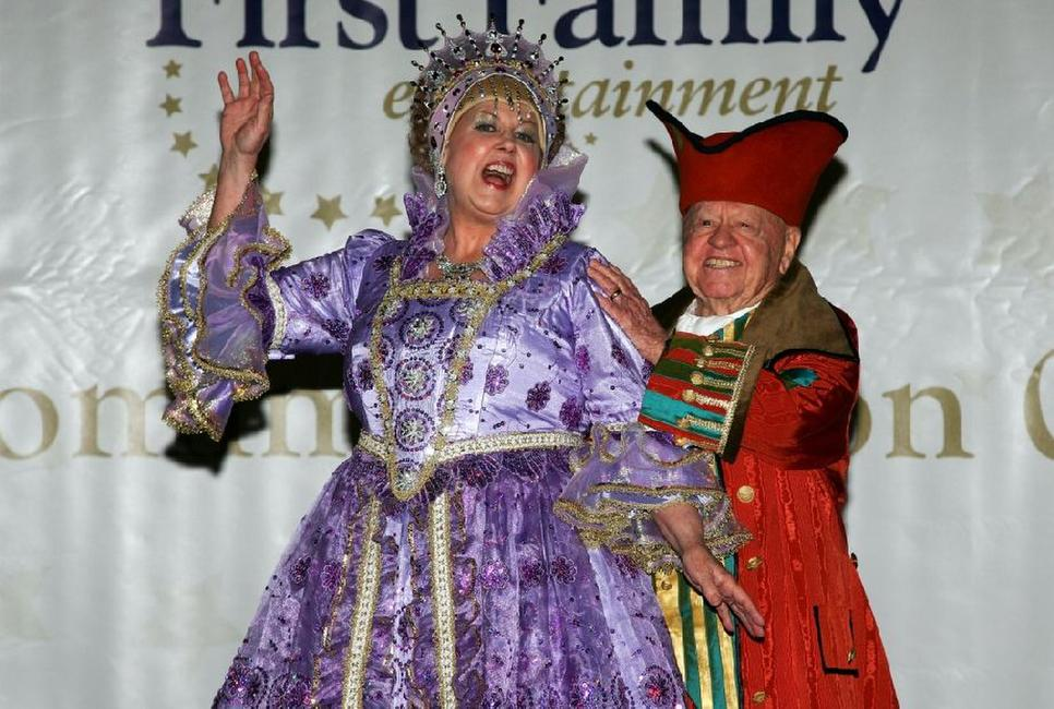 Mickey Rooney and Jan Rooney at the First Family Entertainment Pantomime Season Panto Line Up Launch.
