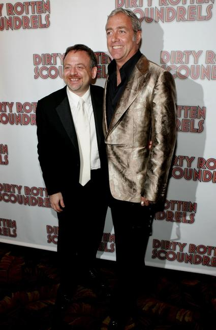 Marc Shaiman and Scott Wittman at the after party of the opening night of