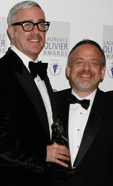 Scott Wittman and Marc Shaiman at the Laurence Olivier Awards.