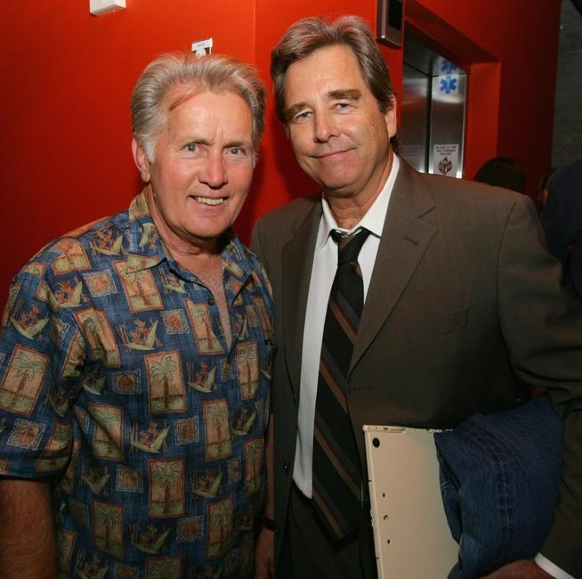 Martin Sheen and Beau Bridges at the after party for the benefit reading of